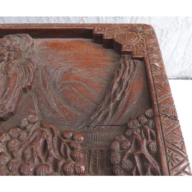 Chinese Teak & Cedar Carved Chest For Sale - Image 9 of 13