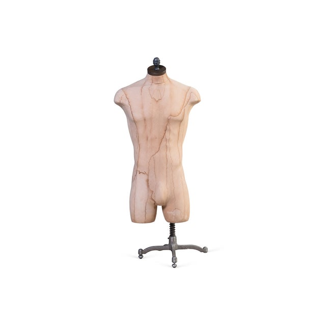 "This is a male mannequin on an adjustable 50-65""H stand. It is a perfect item to use for displaying outfits. Note, a..."