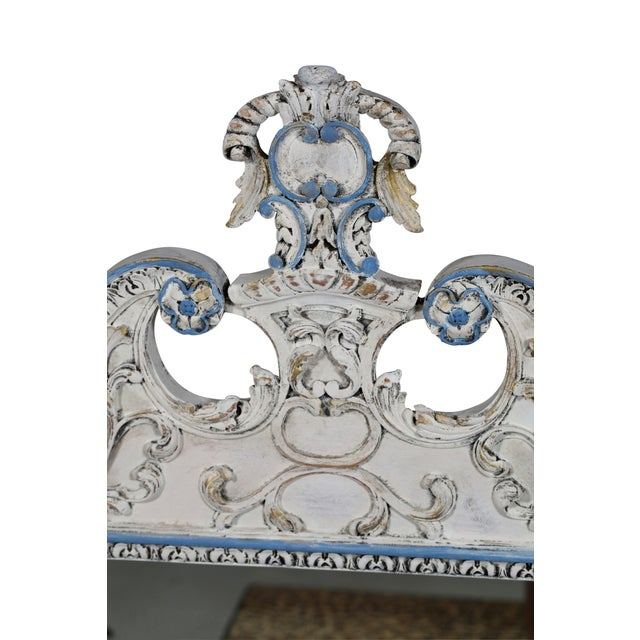 Blue & White French-Style Mirror - Image 4 of 6