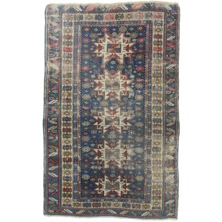 "RugsinDallas Antique Russian Geometric Rug - 3'10"" X 5'1"" For Sale"