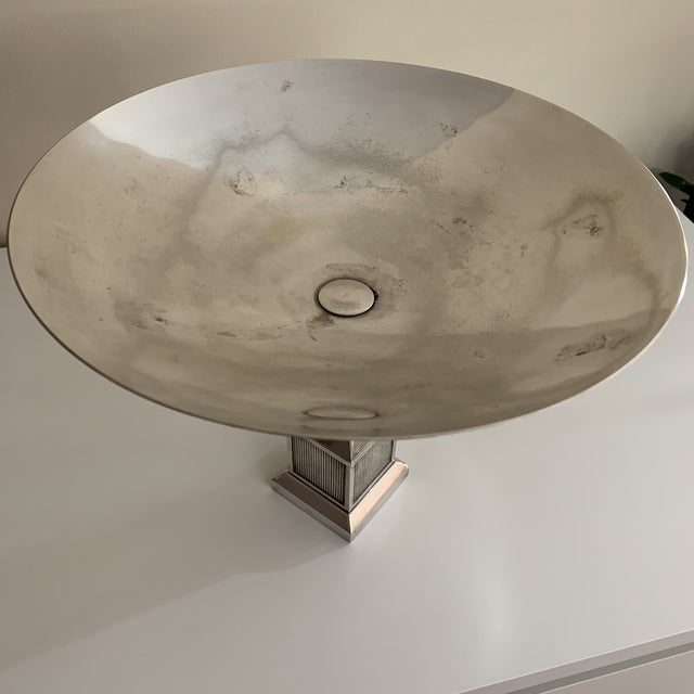 Vintage Gucci Silver Plate Centerpiece Bowl For Sale - Image 10 of 13