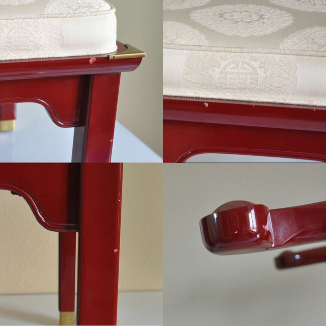 Century Red Lacquer Ming Chair - Image 8 of 8