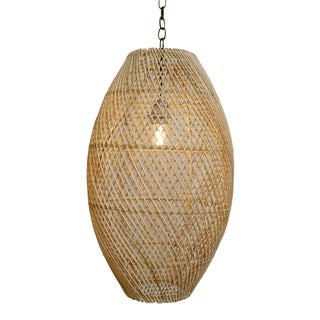 Rattan Bead Lantern Small For Sale