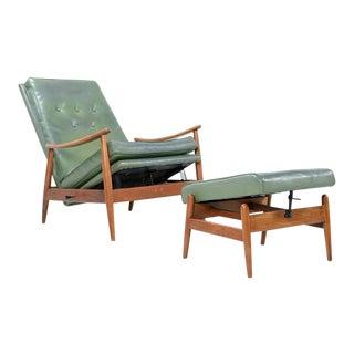 Milo Baughman for Thayer Coggin Reclining Lounge Chair & Ottoman