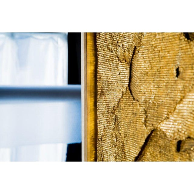 Gold Sophie Coryndon, Tapestry Triptych, UK, 2017 For Sale - Image 8 of 11