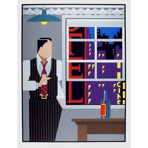 Art Deco Giancarlo Impiglia, Traveling Salesman, Serigraph For Sale - Image 3 of 3