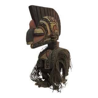 African D'mba Shoulder Mask Aka Spirit Artisanal Sculpture For Sale