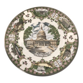 "1960's ""The Capitol"" Decorative Souvenir Wall Plate"