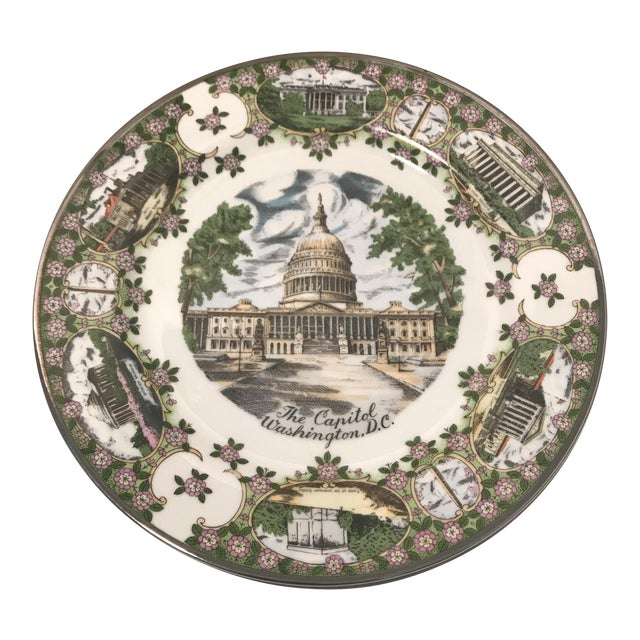 "1960's ""The Capitol"" Decorative Souvenir Wall Plate For Sale"