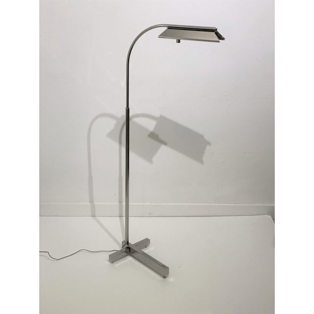 Casella Floor Lamp Nickel Plated For Sale - Image 9 of 10