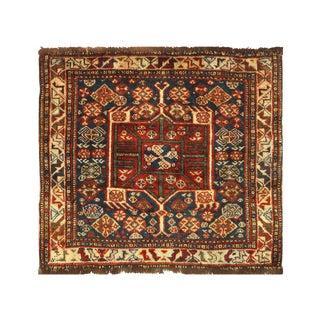 Antique Persian Pasargad Qashqai Rug - 2′ × 2′ For Sale