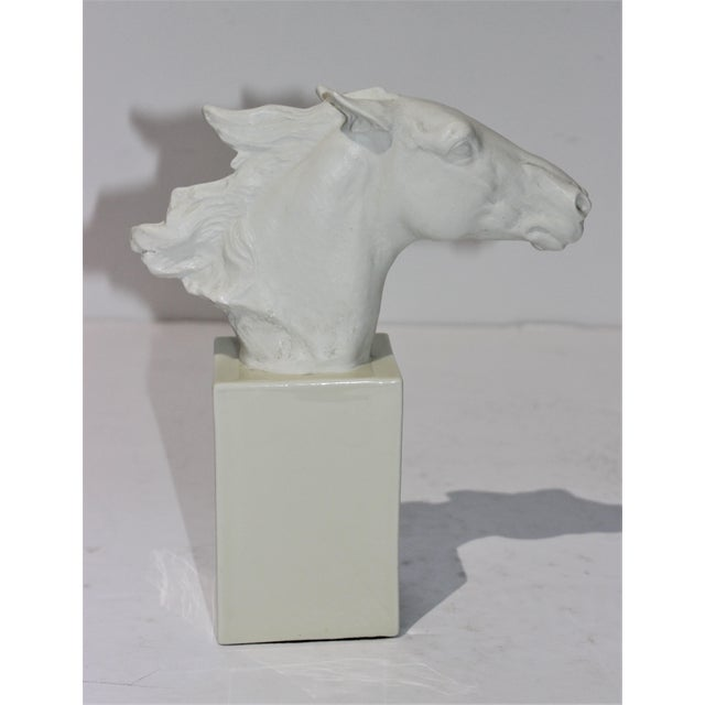 Vintage 1930s-1940s Horse Sculpture White Porcelain For Sale In West Palm - Image 6 of 13