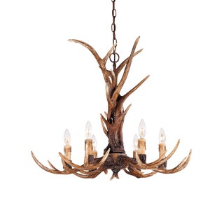 Rustic Six Arm Antler Chandelier