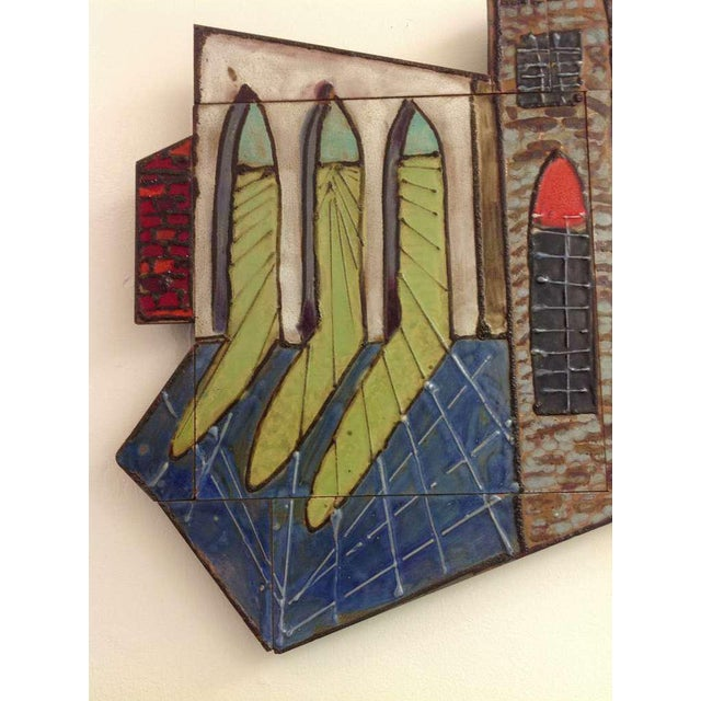 Thirteen ceramic tiles placed together to make this fantastic piece of art by Harris Strong. The colors and shading make...