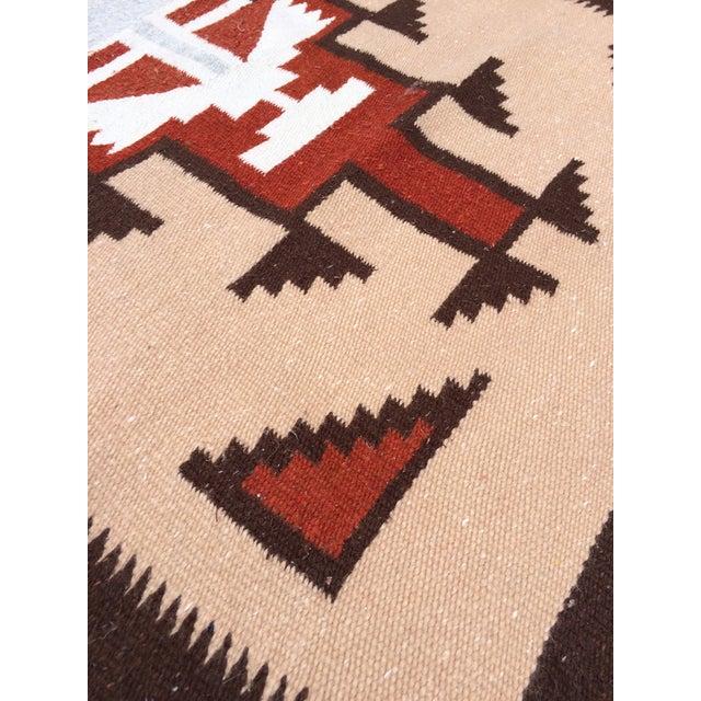 Handwoven Vintage Wool Navajo Rug - 2′7″ × 4′10″ - Image 4 of 4