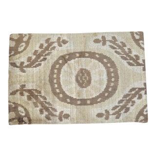 Brown Silk Velvet Accent Pillow