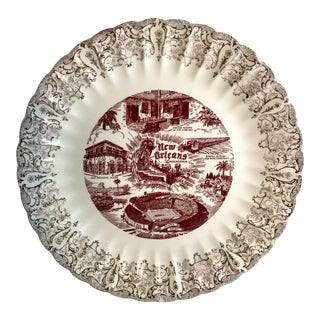 Vintage Mid Century New Orleans Tourism Plate For Sale