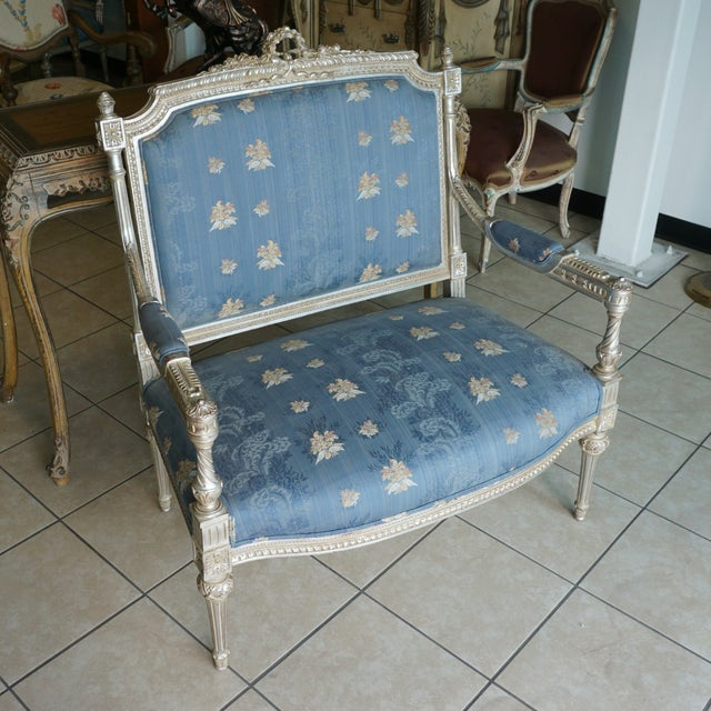 Hand Carved European Settee - Image 3 of 8
