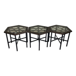 Widdicomb Honeycomb Tables, Set of 3 For Sale