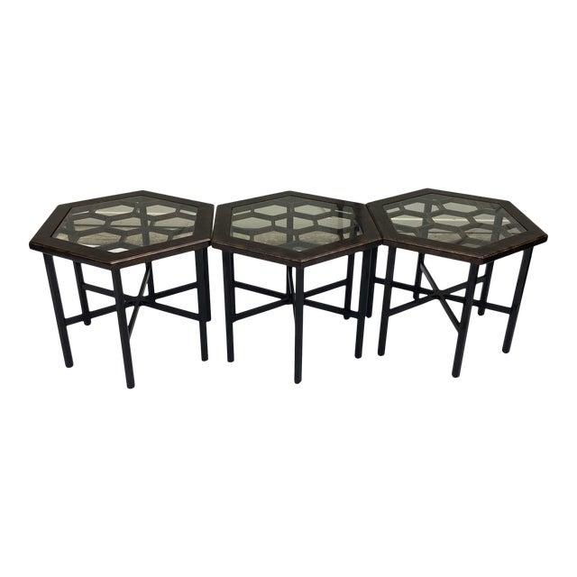Widdicomb Honeycomb Tables, Set of 3 For Sale