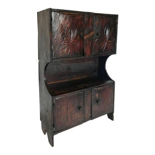 Antique Guatemalan Primitive Cabinet For Sale