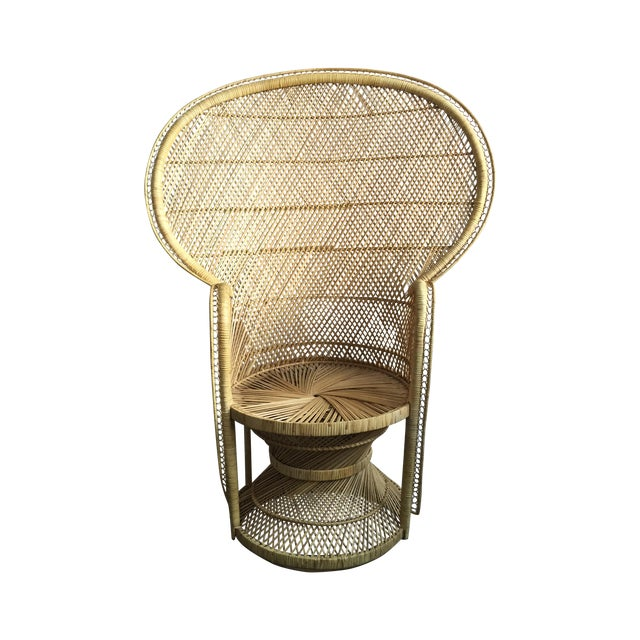 1970s Light Colored Peacock Chair - Image 1 of 6