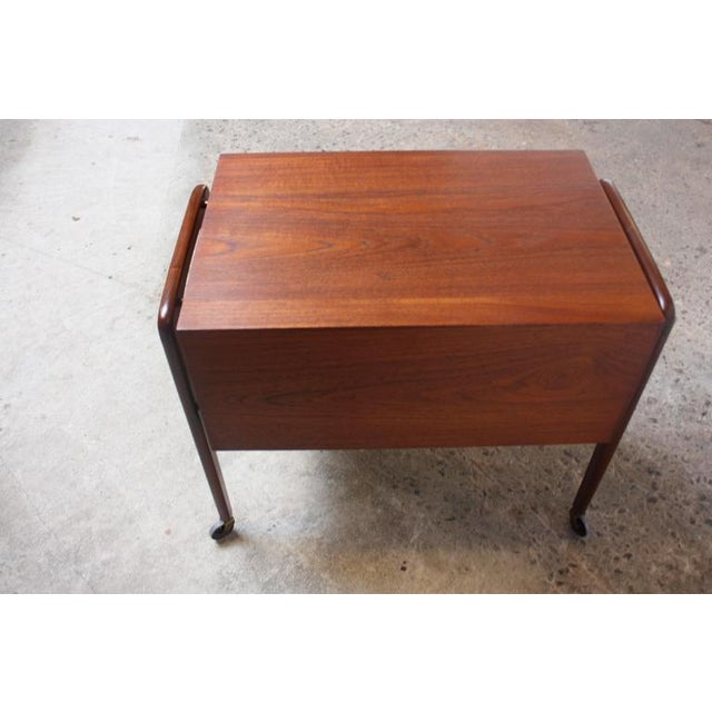 Danish Modern Diminutive Teak Chest on Casters by Arne Vodder - Image 11 of 11