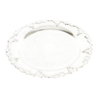 English Silver Plated Round Barware / Tableware Tray For Sale