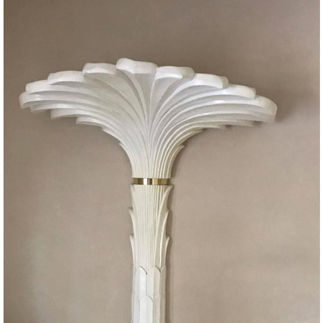 Palm Tree Wall Lights in the Style of Serge Roche - A Pair For Sale - Image 5 of 6