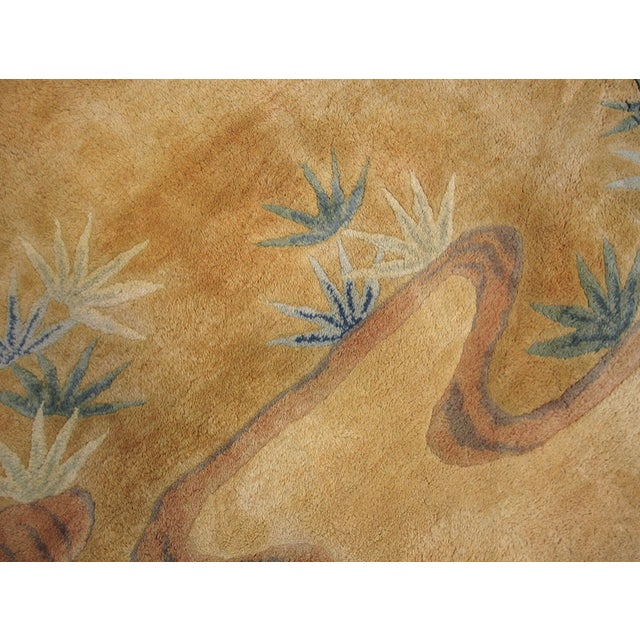 Textile Antique Chinese Art Deco Rug For Sale - Image 7 of 8