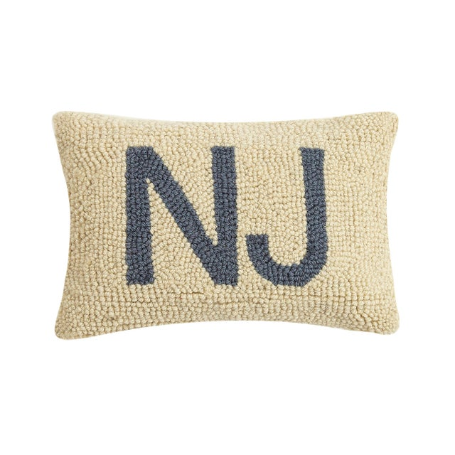 """Contemporary New Jersey Hook Pillow, 8"""" x 12"""" For Sale - Image 3 of 3"""