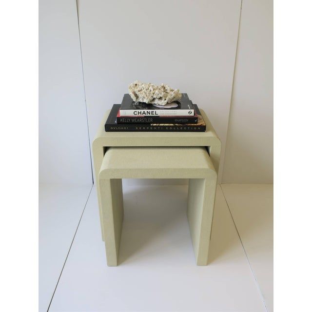 2010s Shagreen-Esque Nesting Tables With Waterfall Edge For Sale - Image 5 of 12