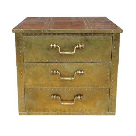 Brass Chest by Sarreid Ltd. For Sale