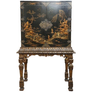 Chinoiserie Cabinet on Gilt Stand For Sale