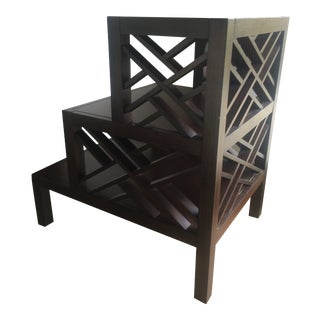Chinoiserie Wooden Side Table For Sale