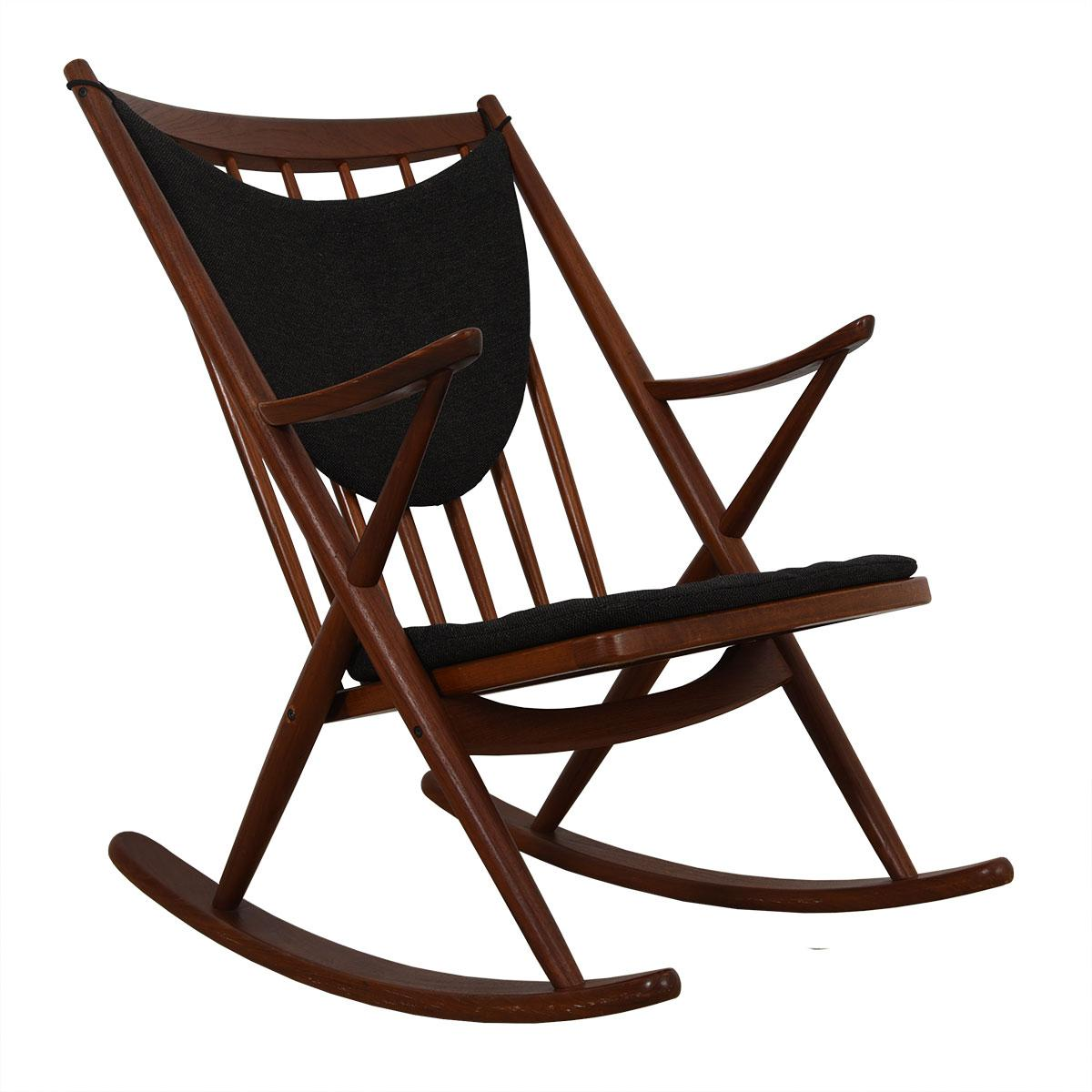 Merveilleux Danish Modern Rocking Chair In Teak By Bramin, Denmark   Image 11 Of 11