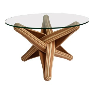 Mid-Century Modern Bamboo Coffee Table For Sale