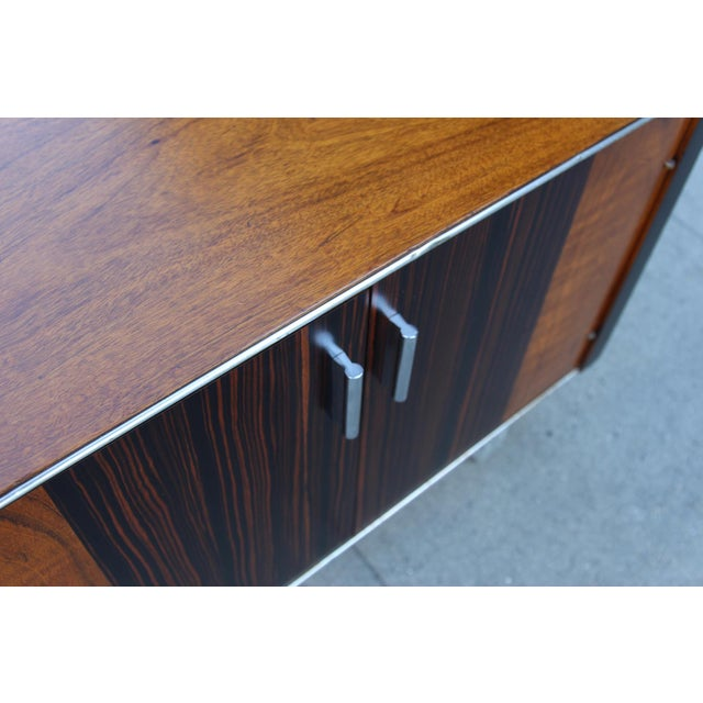 Mid-Century Wooden Nightstand on Lucite Base - Image 9 of 11
