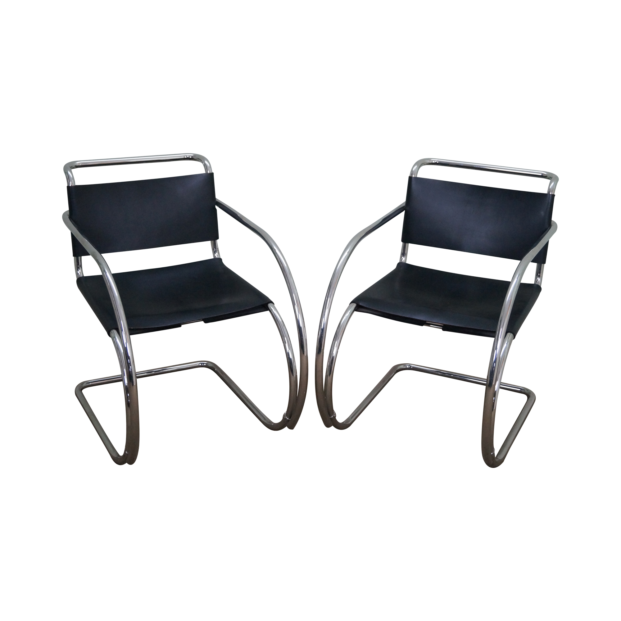 Knoll Ludwig Mies Van Der Rohe Chairs   Pair