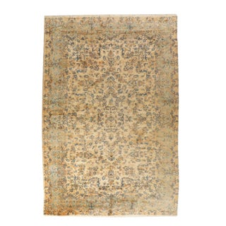"""1930s Antique Hand-Knotted Persian Kerman Wool Rug-9'6'x16'9"""" For Sale"""
