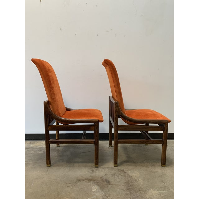 1970s Vintage Henredon Walnut Dining Chairs- Set of 8 For Sale In Dallas - Image 6 of 13