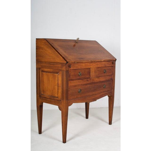 Louis XVI 19th Century Louis XVI Walnut Desk/Writing Table For Sale - Image 3 of 6