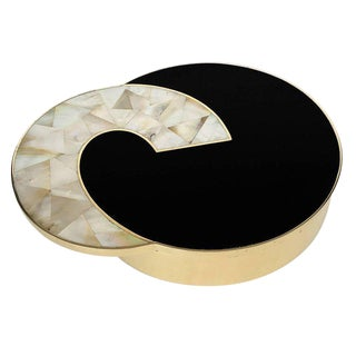 Gabriella Crespi Style Brass and Mother-of-Pearl Box