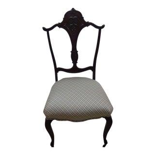 Antique Beacon Hill Silk Side Chair