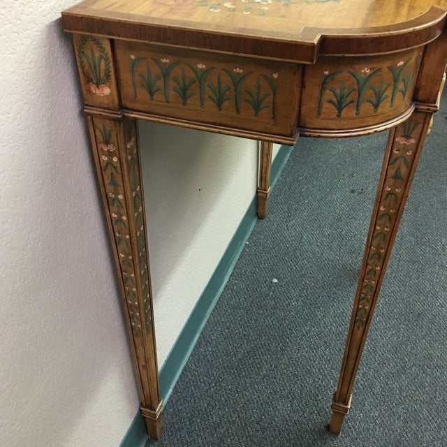 Hand-Painted Floral Console Table - Image 10 of 11
