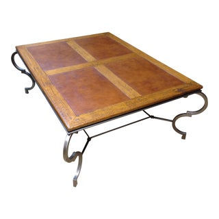 Transitional Old World Custom Made Coffee Table For Sale