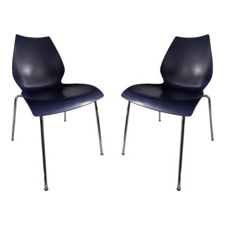 Vintage Navy Blue Maui Chairs by Kartell - a Pair For Sale