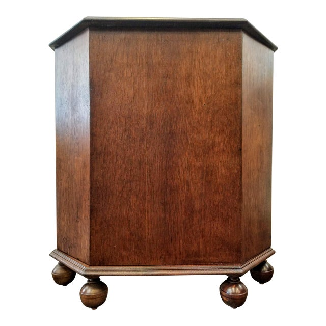 1920s Art Deco English Oak Drinks Cabinet / End Table / Bookcase by Heal & Son For Sale