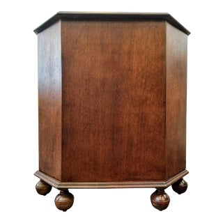 1920s Art Deco English Oak Drinks Cabinet / End Table / Bookcase by Heal's & Son For Sale