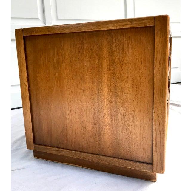 Metal Mid-Century Modern Drexel 4 Drawer Low Boy Dresser For Sale - Image 7 of 13